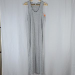 Heather Gray Racerback Maxi Dress Cotton Blend